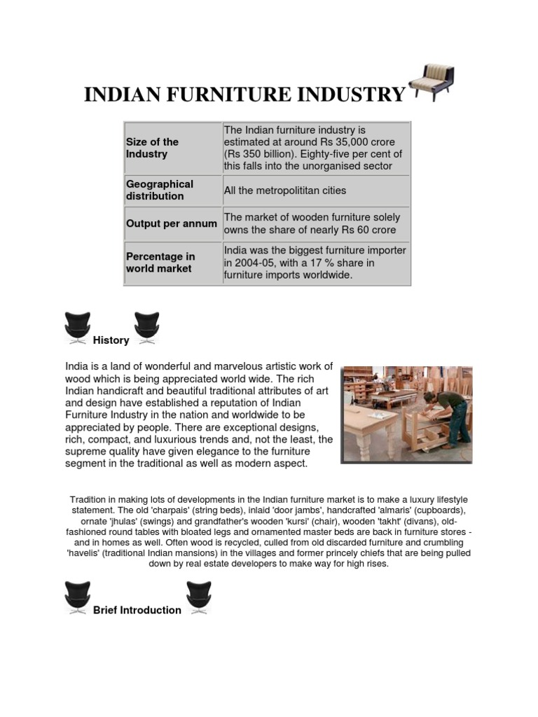 indian furniture industry | furniture | exports