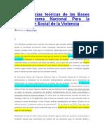 Las carencias teóricas de las Bases del Programa Nacional Para la Prevención Social de la Violencia