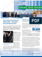 Arnstein & Lehr Spring 2009 Update Newsletter