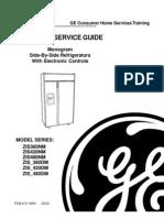 GE Monogram Refrigerator Service Manual