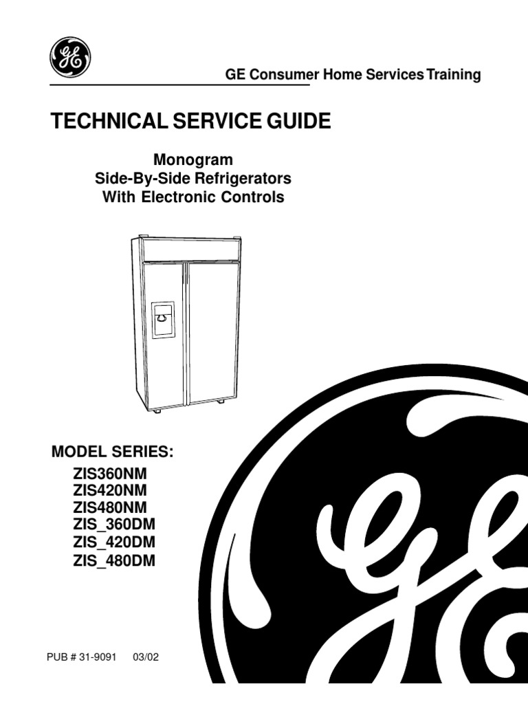 Service manual For Ge side By Side Refrigerator or ice maker ... on