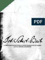 (12)15 Invenciones Para Alto y Tenor - Bach