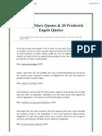 Marx Quotes