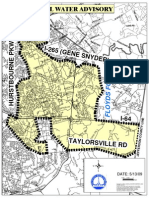 East End boil water advisory map
