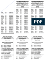 Bible Reading Plan and Preaching Schedule - July 2013