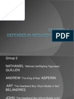 Chapter 4- Defenses in Negligence Cases