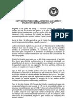 Boletin Devuelven Personeria Juridica a La UP