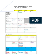 Calendario 2do Semestre. Primera Propuesta MODIFICADA