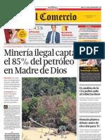 EC-13072013 - El Comercio - Portada Madre de Dios Petroleo