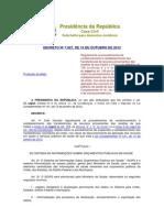 DECRETO Nº 7.827, DE 16 DE OUTUBRO DE 2012