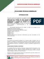Especificaciones Tecnicas Generales Huamburque Porvenir