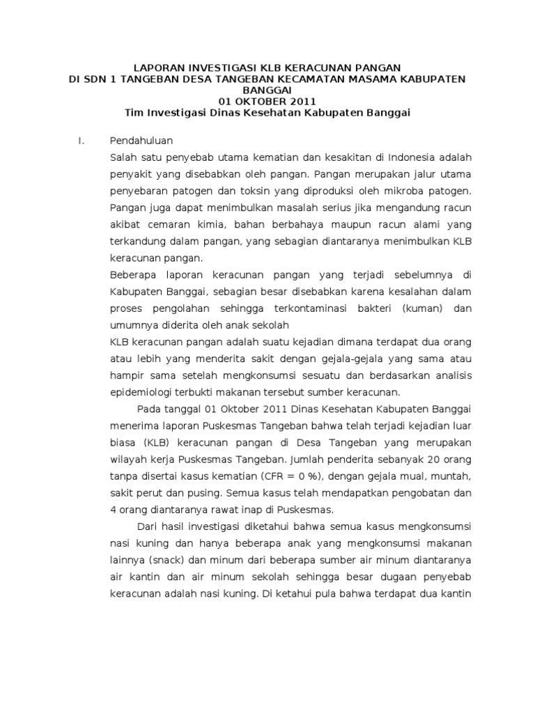 Contoh Laporan Investigasi Dan Laporan Deskriptif Kumpulan Contoh Laporan