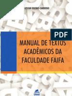 Manual de Textos Academicos Da Faculdade FAIFA Vivian Bueno Cardoso