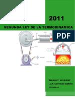 Segunda Ley de La Termodinamica. DALIANNY MELENDEZ