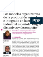 LOS MODELOS ORGANIZATIVOS DE PRODUCCIÓN RETICULAR EN LA INDUSTRIA ESPAÑOLA