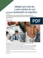 Las 6 estrategias que usan las empresas para cubrirse de una posible devaluación en Argentina