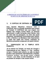 A ORIGEM DE ALGUNS SÍMBOLOS E ALEGORIAS NO RITUAL DE APRENDIZ DO R.E.A.A.