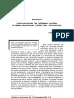 PSICOLOGÍA SOCIAL Y EL ENTRAMADO CULTURAL