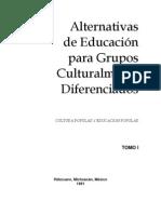 Alternativas de Educacion Para Grupos Culturalmente Diferenciados