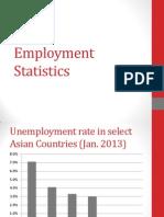 Employment Statistics 2013