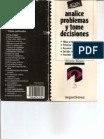 Analice Problemas y Tome Decisiones - Serie Accion - Editorial Granica
