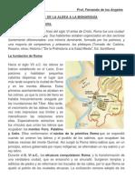 Ficha de Historia Roma de la Aldea a la Monarquía