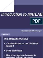MATLAB Cse Tutorial