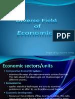 Diverse Field of Economics