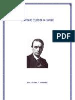 Rudolf Steiner Significado Oculto de La Sangre