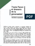 Maurice Maschino - Frantz Fanon, El Itinerario de La Generosidad