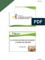 El cultivo de papa en Ecuador y planes de mejora competitiva