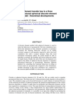 Moment Transfer Law in 3D DEM Simulations