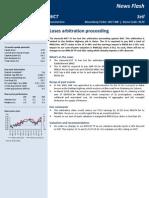 WCT - 130422 - Loses Arbitration Proceeding