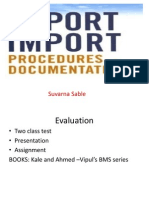 Export Import Procedures & Documents...........