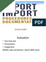 Export Import Procedures & Documents...........