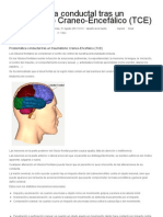 Problemática conductal tras un traumatismo Craneo-Encefálico (TCE)