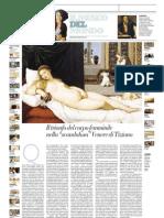 IL MUSEO DEL MONDO 29 - Venere Di Urbino Di Tiziano Vecellio (1538) - La Repubblica 14.07.2013
