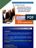 Ejercicios Intervalo Confianza Media