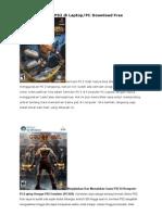 Cara Main Game PS2 Di Laptop