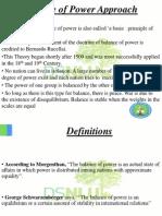 Balance of Power Approach