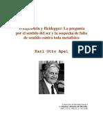 Apel Karl Otto - Wittgenstein Y Heidegger La Pregunta Por El Sentido Del Ser