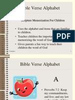 Bible Verse Alphabet