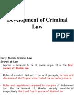 Development of Criminal Law