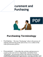 2. Procurement and Purchasing.