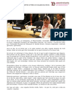 Discurs de Malala Tousafzai a l'ONU (juliol 2013)
