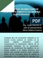 J-parametros Geomecanicos Para Sostenimiento en Mineria Subterranea