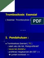 Trombositosis  Esensial