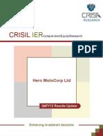 CRISIL Research Ier Report Hero Honda Motors Q4FY13