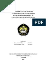 Analisa Resep Kelompok Pkpa Kf 253 Serang
