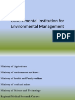 Governmental Institution for Environmental Management